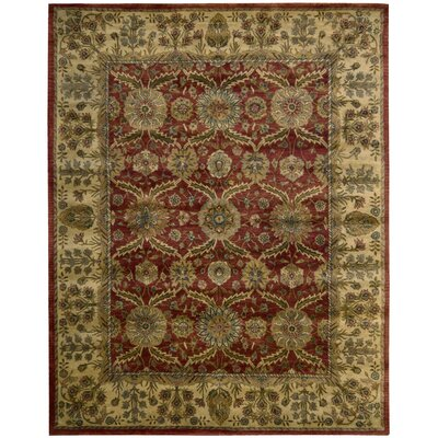 Bassham Red Area Rug Rug Size: Rectangle 83 x 116