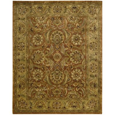 Bassham Rust Area Rug Rug Size: Rectangle 83 x 116