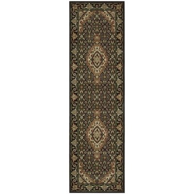 Bayhills Black/Brown Area Rug Rug Size: Runner 23 x 12