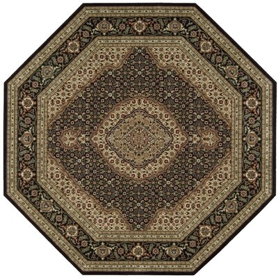Bayhills Black/Brown Area Rug Rug Size: Octagon 79