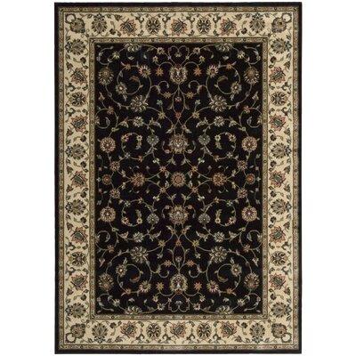Bayhills Black/Brown Area Rug Rug Size: 36 x 56