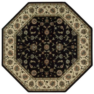 Bayhills Black/Brown Area Rug Rug Size: Octagon 53