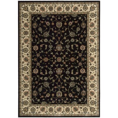 Bayhills Black/Brown Area Rug Rug Size: 53 x 75