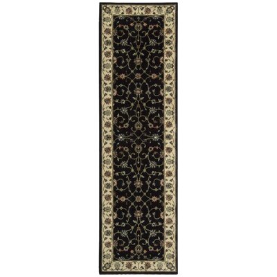Bayhills Black/Brown Area Rug Rug Size: Runner 23 x 8