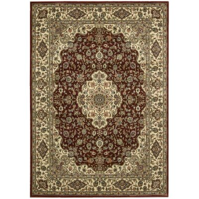 Bayhills Brick/Brown Area Rug Rug Size: 36 x 56