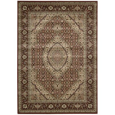 Bayhills Brick/Brown Area Rug Rug Size: 53 x 75