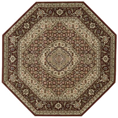 Bayhills Brick/Brown Area Rug Rug Size: Octagon 53