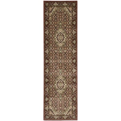 Bayhills Brick/Brown Area Rug Rug Size: Runner 23 x 12