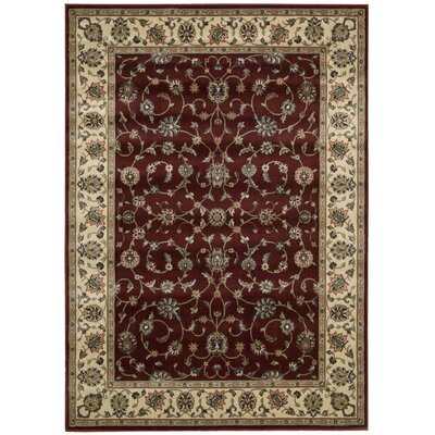 Bayhills Brick/Brown Area Rug Rug Size: Runner 23 x 8