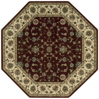 Bayhills Brick/Brown Area Rug Rug Size: Octagon 79