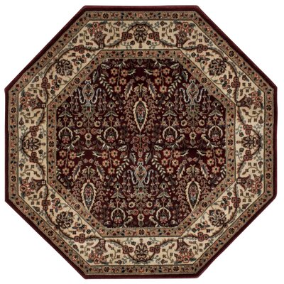 Bayhills Brown/Burgundy Area Rug Rug Size: Rectangle 79 x 1010