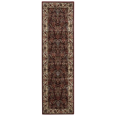 Bayhills Brown/Burgundy Area Rug Rug Size: Rectangle 36 x 56