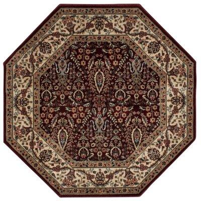 Bayhills Brown/Burgundy Area Rug Rug Size: Octagonal 53