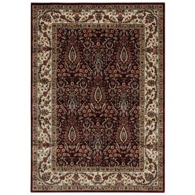 Bayhills Brown / Burgundy Area Rug Rug Size: 3'6