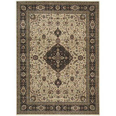Bayhills Blue/Ivory Area Rug Rug Size: Rectangle 53 x 75