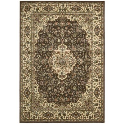 Bayhills Chocolate/Beige Area Rug Rug Size: Rectangle 36 x 56