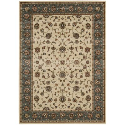 Bayhills Ivory/Rust Area Rug Rug Size: Rectangle 53 x 75