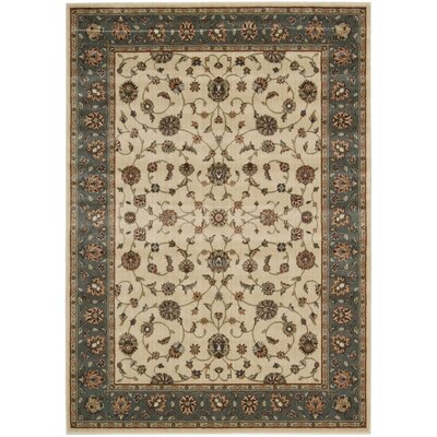 Bayhills Ivory/Rust Area Rug Rug Size: Runner 23 x 12