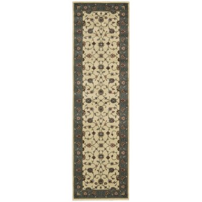 Bayhills Ivory/Rust Area Rug Rug Size: Runner 23 x 8