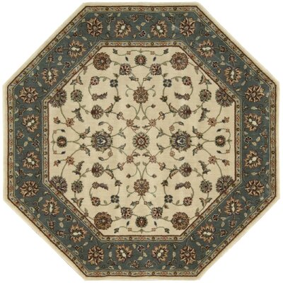 Bayhills Ivory/Rust Area Rug Rug Size: Octagon 53