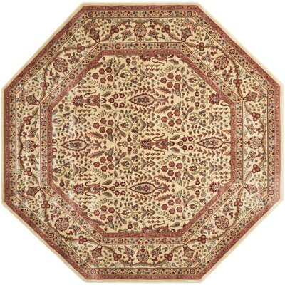 Bayhills Ivory/Rust Area Rug Rug Size: Octagon 79
