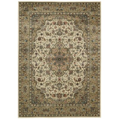 Bayhills Ivory/Gold Area Rug Rug Size: 36 x 56