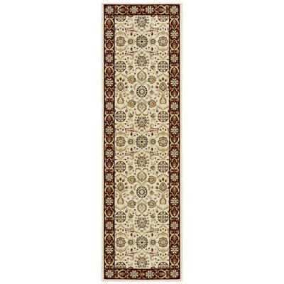 Baye Cream/Brown Area Rug Rug Size: 53 x 74