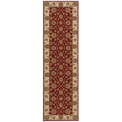Baye Red/Ivory Area Rug Rug Size: Rectangle 93 x 129