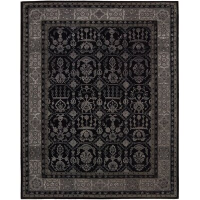 Carsonville Hand-Tufted Black Area Rug Rug Size: 39 x 59