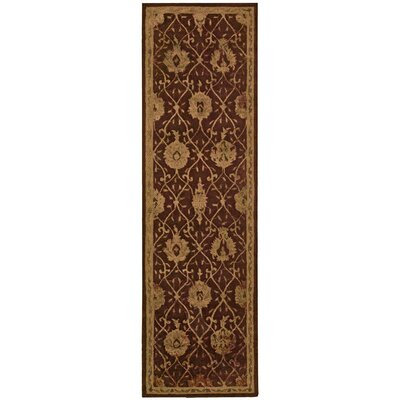 Carsonville Hand-Tufted Chocolate Area Rug Rug Size: Runner 23 x 8