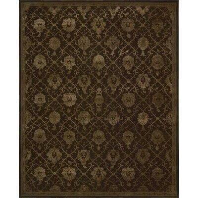 Carsonville Hand-Tufted Chocolate Area Rug Rug Size: 56 x 86