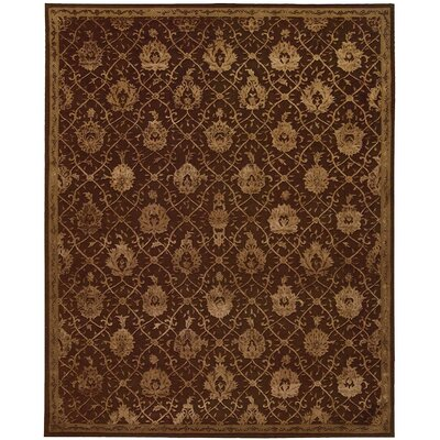 Carsonville Hand-Tufted Chocolate Area Rug Rug Size: 86 x 116