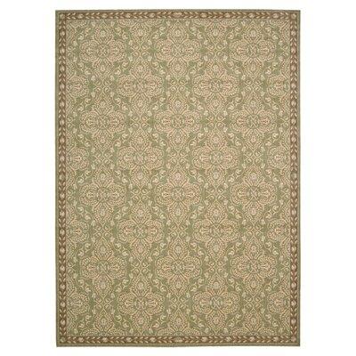 Castanada Green/Tan Rug Rug Size: 53 x 75