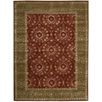 Channing Ruby Area Rug Rug Size: 56 x 75