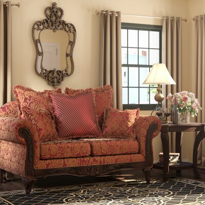 Serta Upholstery Belmond Loveseat Upholstery: Momentum Magenta / Safari / Sateena