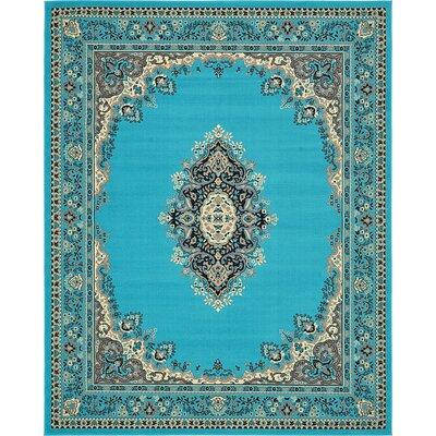 Charlie Turquoise Area Rug Rug Size: 8 x 10