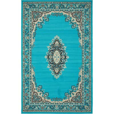 Charlie Turquoise Area Rug Rug Size: 5' x 8'