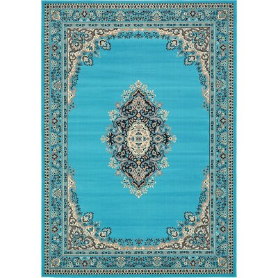 Charlie Turquoise Area Rug Rug Size: 7 x 10