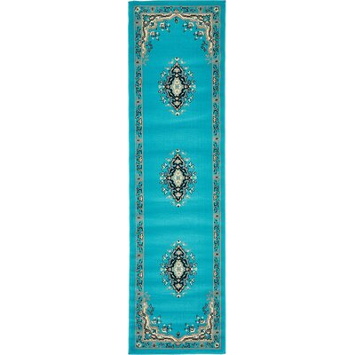 Charlie Turquoise Area Rug Rug Size: Runner 22 x 82