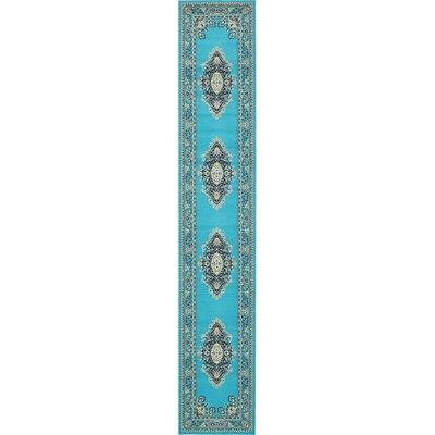 Charlie Turquoise Area Rug Rug Size: 3 x 165