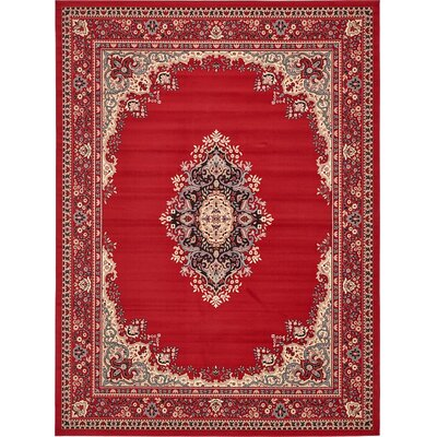 Charlie Red Area Rug Rug Size: 910 x 13