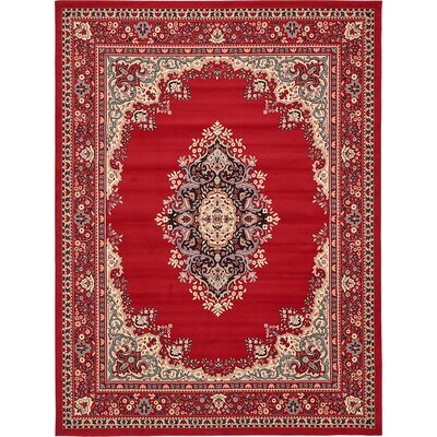 Charlie Red Area Rug Rug Size: 9 x 12