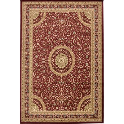 Charlie Red Area Rug Rug Size: 13' x 19'8