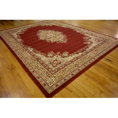 Britain Red Area Rug Rug Size: Rectangle 910 x 13