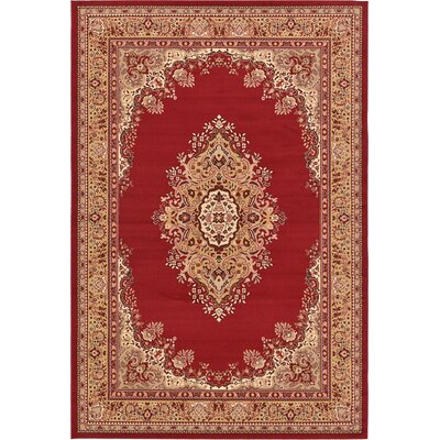 Charlie Red Area Rug Rug Size: 8 x 10