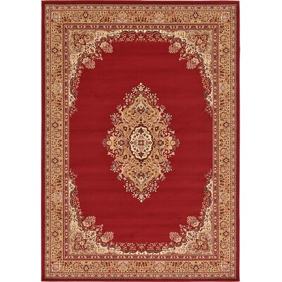 Charlie Red Area Rug Rug Size: 7 x 10