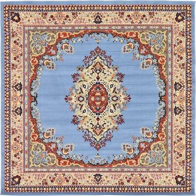 Charlie Light Blue Area Rug Rug Size: Square 8