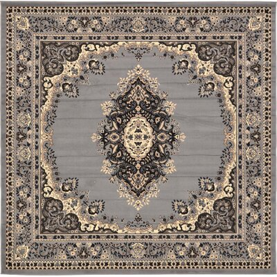 Charlie Gray Area Rug Rug Size: Square 8