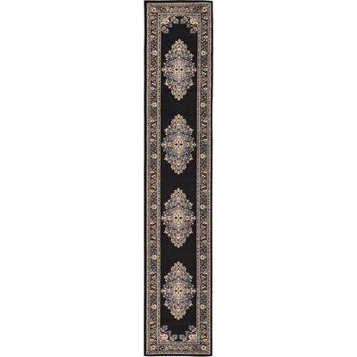 Charlie Black Area Rug Rug Size: 3 x 165