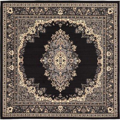 Britain Black Area Rug Rug Size: Square 8